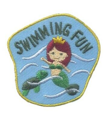 GIRL BOY CUB Blue POOL PARTY day swimming Fun Patches Crest Badges