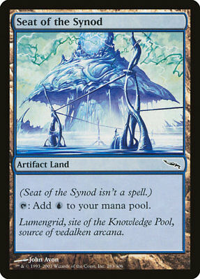 MTG X4: Seat of the Synod, Mirrodin, C, Moderate Play - FREE US SHIPPING!