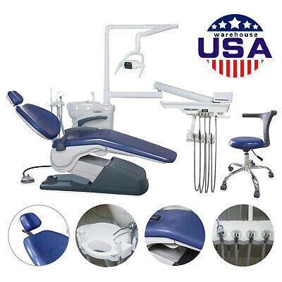 USA Dental Chair&Stool Unit Computer Controlled 110V Hard Leather ship to Door X