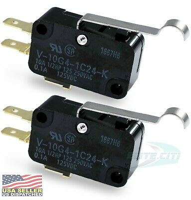 Omron V-10G4-1C24-K  SPDT 10A 250V Microswitch, Quick Connect, (Pack Of 2)