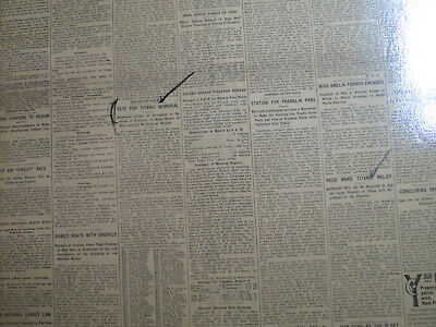 Titanic Ship Newspaper 1912 FETE FOR MEMORIAL + NEED MORE TITANIC RELIEF FUNDS