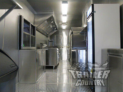 New 8.5X30 8.5 X 30 V-Nosed Enclosed Concession Food Vending Bbq Trailer