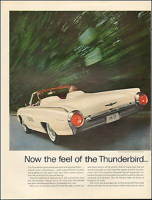 1961 Vintage ad for New Thunderbird Sports Roadster White Convertible(101016)