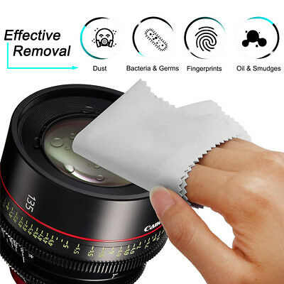 10Pack Premium Microfiber Cleaning Cloths for Lens Glasses Screen Phone Tablet