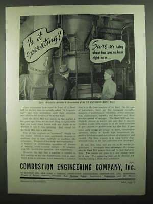 1939 Combustion Engineering Company Ad - Operating?