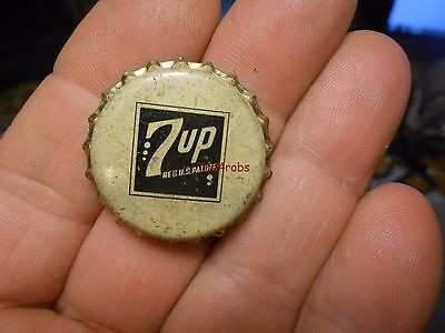 Vintage 1940s 7 Up Unused Cork Bottle Cap