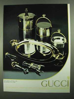 1981 Gucci Silver Plated Bar Set Ad