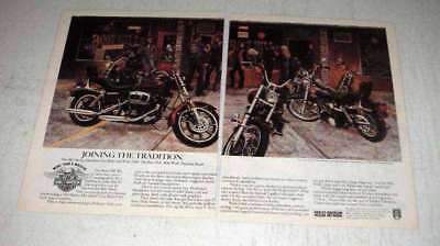 1981 Harley-Davidson Low Rider & Wide Glide Cycle Ad