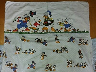 Bettwäsche Donald Duck Tick Trick Track Disney 80er 90er Retro