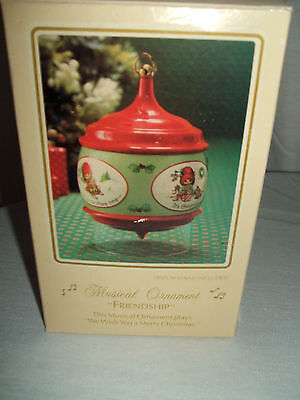 Rare Hallmark  - 1983 Friendship - Musical Christmas Ornament