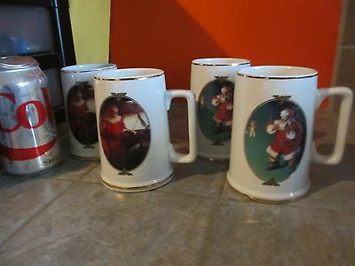 Set of 4 COCA COLA 1996 Christmas MUGS GOOD BOYS GIRLS & WHEN FRIENDS DROP IN
