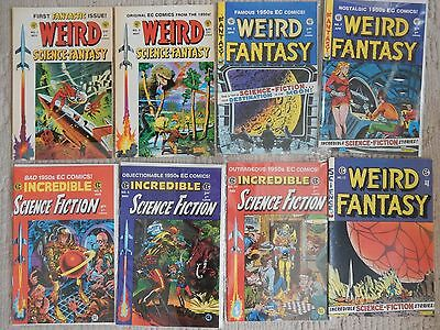 EC Reprints 8 issue lot  WEIRD SCIENCE FANTASY,WEIRD FANTASY,INCREDIBLE SCIENCE