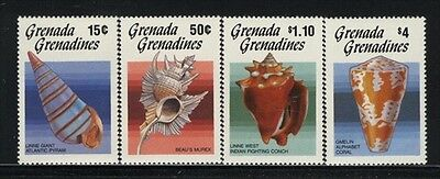 Grenada-Grenadines MNH Sc 767-70 Sea Shells Value $ 13.25  US $$
