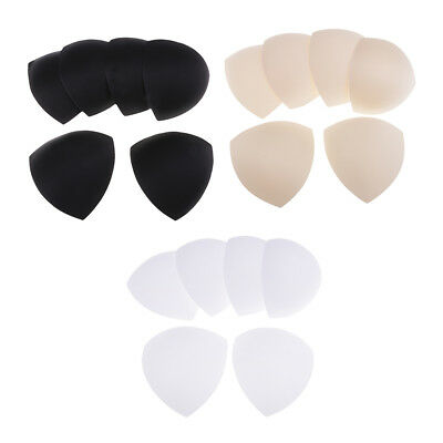 3 Pairs Bra Cup Pads Inserts Triangle Breast Bikini Underwear Sports Removable