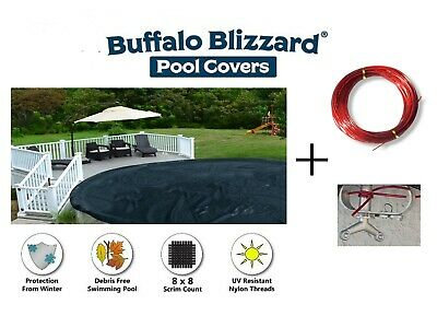 BUFFALO BLIZZARD OVAL Above Ground Swimming Pool Winter Covers - Choose Size
