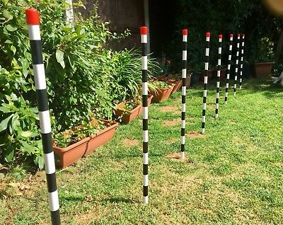 Weave Poles, Dog Agility Equipment Bending Poles,Top Quality With Metal Spikes!