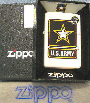 ZIPPO  MILITARY lighter U.S. ARMY Star Logo COLOR IMAGE Mint in Box NEW 29389