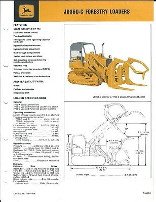 Equipment Brochure - John Deere - JD 350-C - Forestry Log Loader c1974 (E4631)