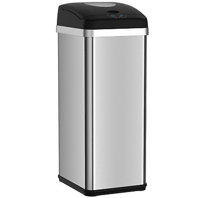 Compactor Trash Can with Automatic Sensor Touchless Lid and Odor-Absorbing