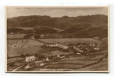Scourie Village, Sutherland - old real photo postcard