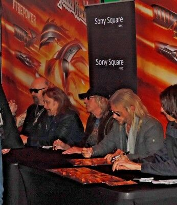 Signed In Person By All Five Judas Priest Members Firepower Cd With Proof Nyc