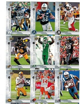 2018 Upper Deck CFL Base Card Pick from List to Complete Set/Collection