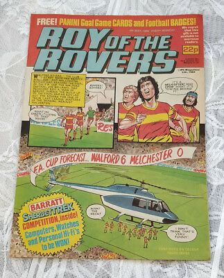 Roy of the Rovers Vintage Comic. 1984. Centre page Remi Moses.