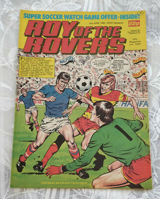 Roy of the Rovers Vintage Comic. 2nd June, 1984. Centre page Bobby McDonald.