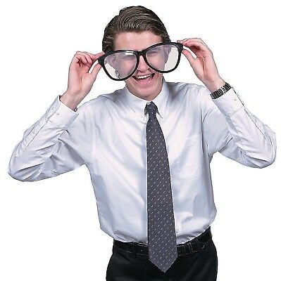 JUMBO BLACK EYE FRAME GLASSES BIG Lenses Clown Nerd Funny Giant Joke Sunglasses