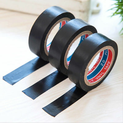 20m Length 16mm Wide PVC Electrical Wire Adhesive Insulating Tape Roll Black