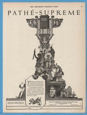 1920 Pathe Freres Phonograph Brooklyn NY Grand Opera Pirate Ship Enno Art Ad