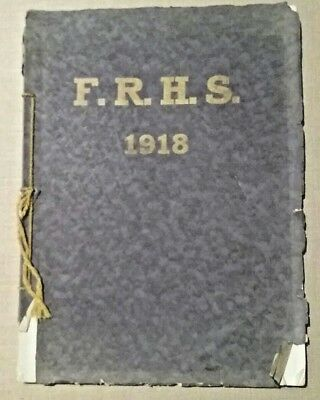 1918 Fall River High School Yearbook WI Wis Columbia County Columbus Doylestown