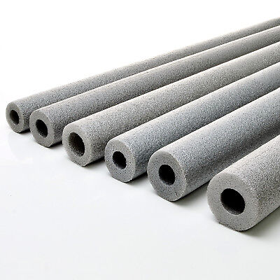 2m PIPE INSULATION polyethylene grey protects from thermal lagging