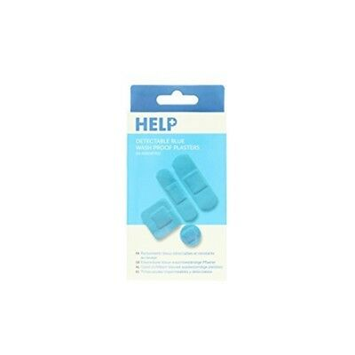 Help Assorted Sterile Washproof Plasters, Blue, 20-piece