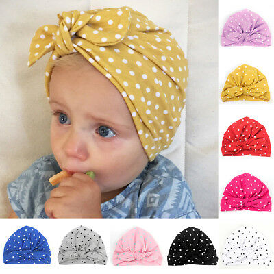 Fashion Newborn Toddler Kids Baby Boys Girls Turban Cotton Beanie Hat Winter Cap
