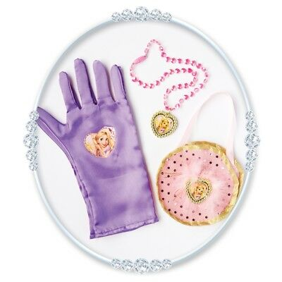 Lila Rapunzel Tasche & Handschuh Set - Bag Gloves Princess Rubies Licensed