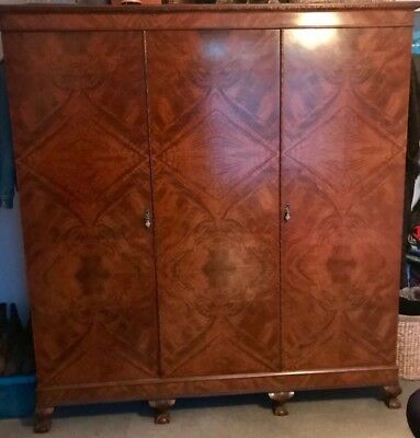 Exquisite Large Antique Double Rosewood Wardrobe  Circa 1850-1900
