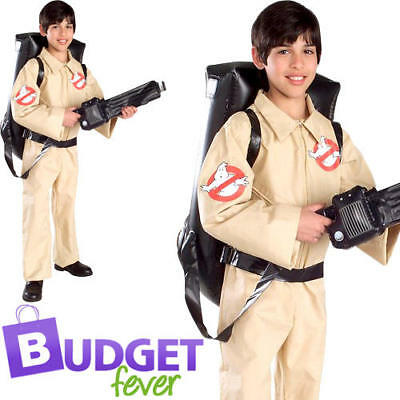 Ghostbusters Boys Fancy Dress Halloween 1980s 80s Kids Childrens Costume Outfit