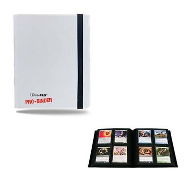 Ultra Pro 4 Pocket PRO BINDER WHITE 20 Pages Holds 160 Gaming/Trading Cards