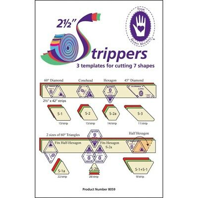 """Marti Michell 2-1/2"""" Strippers Templates-3 Templates For 7 Shapes - 212"""