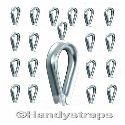 Wire Rope Thimbles 10 x 5mm Galvanised Steel for 5mm wire rope  Handy Straps