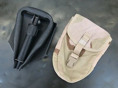 US Army Entrenching Tool E-Tool  Genuine Military Issue Shovel Spaten DCU Desert