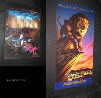 Original IMPERIAL PALACE LAS VEGAS Souvenir Posters 1994 MGM GRAND WATCH US ROAR