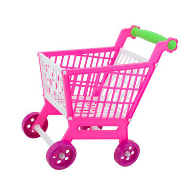 Plastic Supermarket Shopping Hand Trolley Cart for Kids Role Play Toy Gift