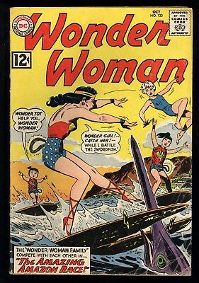 Wonder Woman (1942) #133 1st Print Wonder Tot Wonder Girl Surfing Cover Andru GD