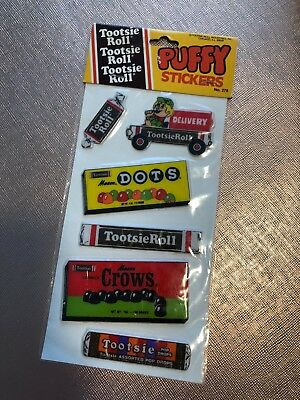 Tootsie Roll Vintage Puffy Stickers Gordy 1982 (NEW SEALED)