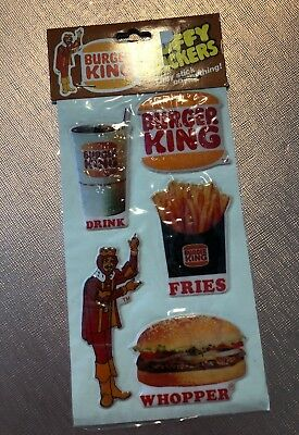 Vintage 1982 Burger King Puffy Stickers Gordy