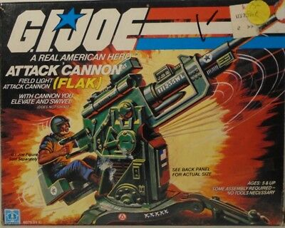 GI JOE 1982 Flak Field Light Attack Cannon Near Mint (Complete With Box)