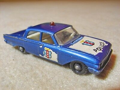 Vintage Matchbox Series  No. 55 , Ford Fairlane Police Car ,  1960 `s