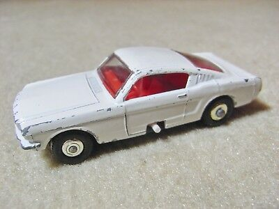 Vintage Matchbox Series  No 6 , Mustang, Ford Mustang Fastback  ,  1960 `s